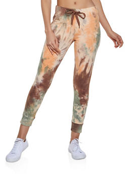 Tie Dye Drawstring Waist Joggers - 1413072299125