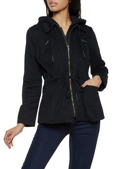 Contrast Hood Anorak Jacket - 1414038204034