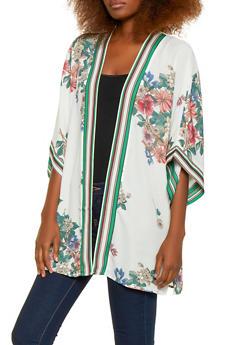 Floral Kimono - 1414054211086