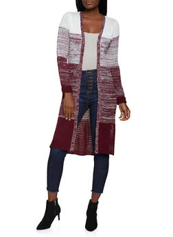 Marled Color Block Duster - 1414062702706