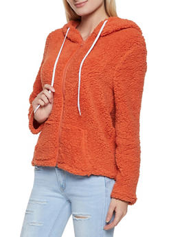Zip Front Sherpa Jacket - 1414062703016