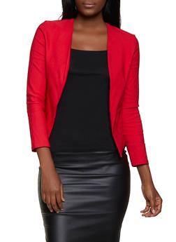 Open Front Stretch Blazer - 1414062703100
