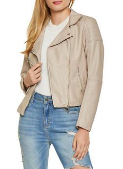 Asymmetrical Zip Moto Jacket - 1414068198182