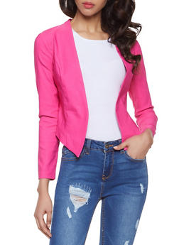 Solid Stretch Blazer - 1414068518516