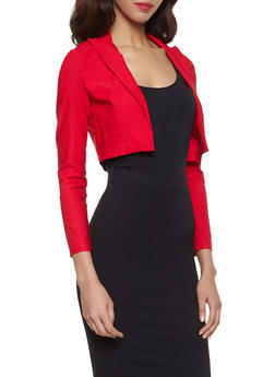 Cropped Stretch Blazer - 1414068518615