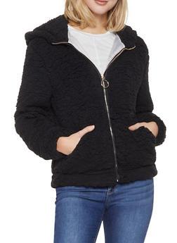 Hooded Sherpa Jacket - 1414069390285