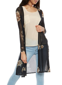 Floral Mesh Duster - 1414069392589