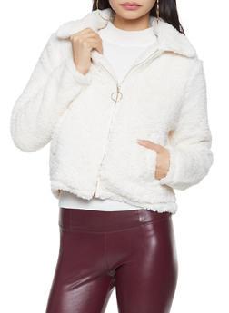 Sherpa Zip Up Jacket - 1414069392650
