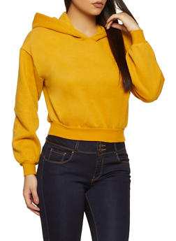 Basic Hooded Fleece Sweatshirt - 1416038205032