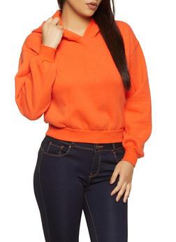 Basic Hooded Fleece Sweatshirt - 1416038205032