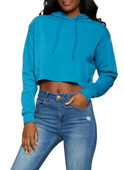 Cropped Sweatshirt - Blue - Size M - 1416072290001