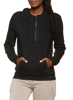 Fleece Lined Hooded Sweatshirt - 1416072291132