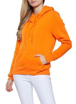 Fleece Lined Hooded Sweatshirt - 1416072291132