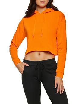 Raw Cut Hem Sweatshirt - 1416072291590