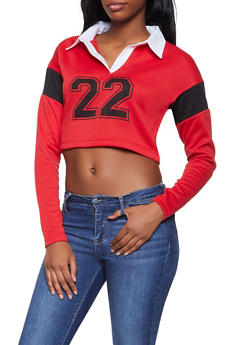 22 Graphic Cropped Sweatshirt - 1416074711850