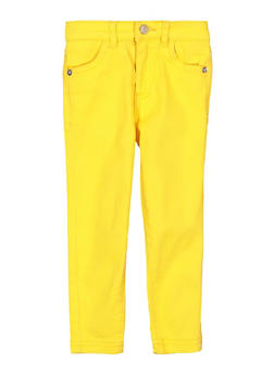 Toddler Girls Yellow Casual Pants - 1501073990309