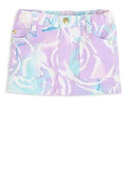 Baby Girls Paint Brushed Denim Skirt - 1566038340014