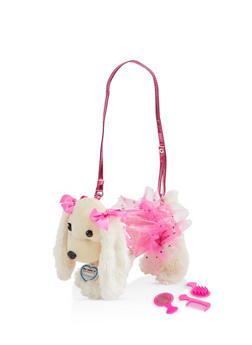 Girls Plush Star Skirt Puppy Purse - 1595038480190
