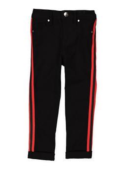 Girls 4-6x Varsity Stripe Tape Hyperstretch Pants - 1601056570026
