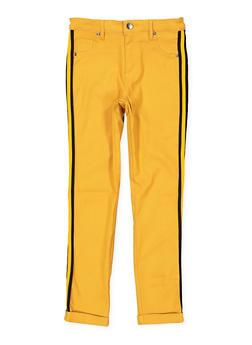 Girls 4-6x Striped Tape Trim Hyperstretch Pants - 1601056570028