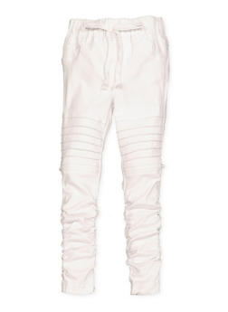Girls 4-6x Hyperstretch Moto Jeggings | White - 1601056570036