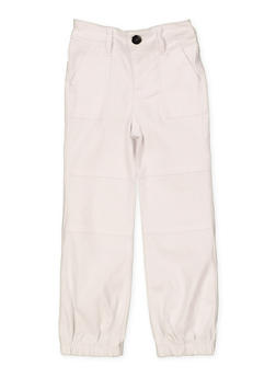 Girls 4-6x Hyperstretch Joggers | White - 1601056570042
