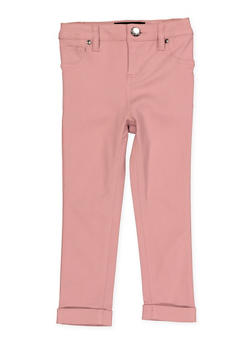 Girls 4-6x Cuffed Hyperstretch Pants | Pink - 1601056570059