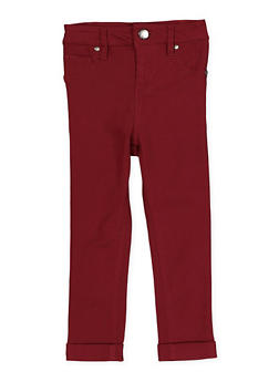 Girls 4-6x Cuffed Hyperstretch Pants | Burgundy - 1601056570060