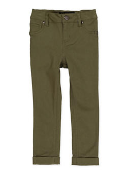 Girls 4-6x Cuffed Hyperstretch Pants | Green - 1601056570062