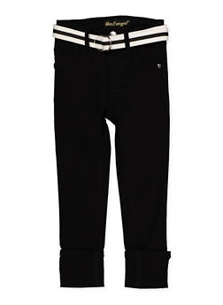 Girls 4-6x Belted Hyperstretch Pants | Black - 1601056570065