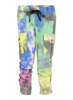 Girls 4-6x Hyperstretch Tie Dye Moto Jeggings - 1601056570083