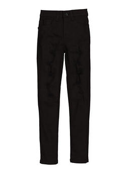 Girls 4-6x Patch and Repair Twill Pants - 1601056720015