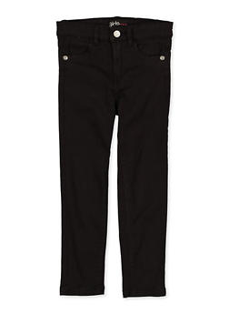 Girls 4-6x Stretch Black Twill Pants - 1601073990030