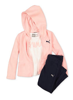 Girls 4-6x Puma Tee with Sweatpants and Sweatshirt Set - 1601075230001