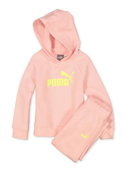 Girls 4-6x Puma Hooded Sweatshirt and Joggers Set - 1601075230008