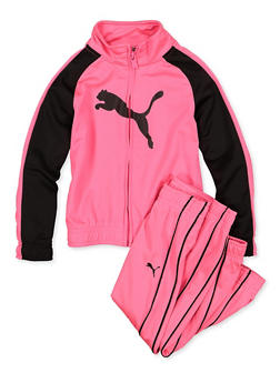 Girls 4-6x Puma Zip Up Track Jacket and Joggers Set - 1601075230014