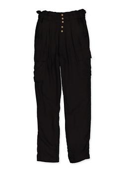 Girls 7-16 High Waisted Cargo Pants - 1602051060037