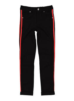 Girls 7-16 Varsity Stripe Tape Hyperstretch Pants - 1602056570055