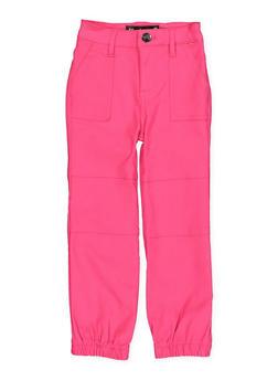 Girls 7-16 Hyperstretch Pork Chop Pocket Joggers   Fuchsia Pink - 1602056570091