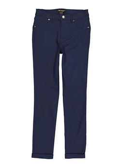 Girls 7-16 Fixed Cuff Hyperstretch Pants - 1602056570102