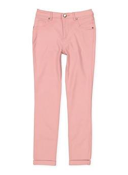 Girls 7-16 Cuffed Hyperstretch Pants - 1602056570104