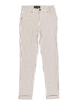 Girls 7-16 Striped Hyperstretch Pants - 1602056570122