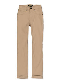 Girls 7-16 Solid Hyperstretch Pants - 1602056570130