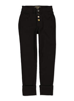 Girls 7-16 Fixed Cuff Hyperstretch Pants - 1602056570132