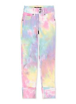 Girls 7-16 Tie Dye Fixed Cuff Hyperstretch Pants - 1602056570134