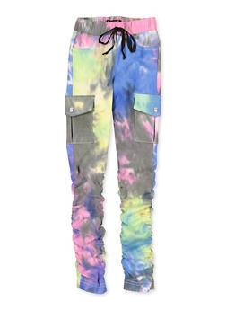 Girls 7-16 Hyperstretch Tie Dye Cargo Pants - 1602056570137