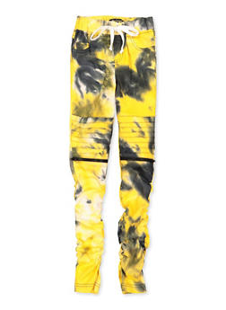 Girls 7-16 Tie Dye Hyperstretch Moto Pants - 1602056570138