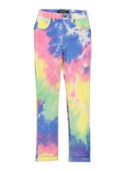 Girls Tie Dye Cuffed Hyperstretch Pants - 1602056570157