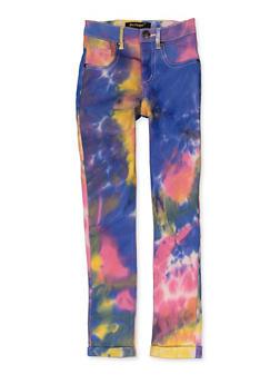 Girls Tie Dye Hyperstretch Pants - 1602056570162
