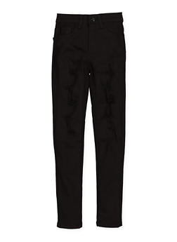 Girls 7-16 Patch and Repair Twill Pants - 1602056720025